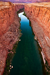 The Colorado River in Marble Canyon. Grand Canyon National Park, Arizona.