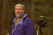 "Photographer G. Brad Lewis - ""Volcanoman"", at Hartley Spring Campground, Eastern Sierras, for 3rd Annual ASSHO Burning Film Festival."