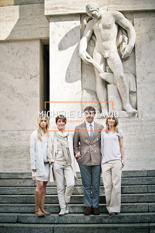 Da sinistra, Carolina, Federica, Brunello e Camilla Cucinelli<br />