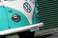 1962 Volkswagon VW Kombi Bus .Green & White.Sandy Bay Rowing Club.Sandy Bay, Hobart, Tasmania .16th February 2008.1962 Kombi, very rare bus, as is 100% original steel. When found, was completely unrestored & in perfect, rust free condition. Basically stock running gear, apart from a later model gearbox & a 1600 motor..(C) Joel Strickland Photographics.Use information: This image is intended for Editorial use only (e.g. news or commentary, print or electronic). Any commercial or promotional use requires additional clearance.