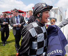 MAY 31 2013 Frankie Dettori first day back following drug ban