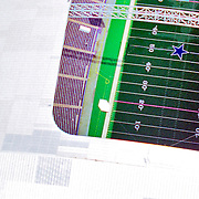 Aerial view of the Texas Stadium, home of Dallas Cowboys Aerial views of artistic patterns in the earth.
