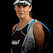 Portrait of ultra marathon runner Rebekah Trittipoe from Bedford, VA, before the start of the Grind Stone 100 Mile Ultra Marathon in Swoope, VA, Friday, Oct. 03, 2008...The Grindstone is the hardest 100 mile race east of the 100th meridian. .