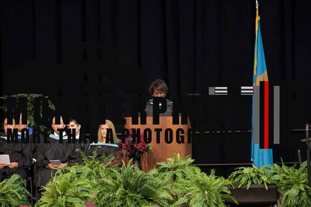 06/13/12 Newark DE: Appoquinimink Assistant Principal Mrs Keisha Brinkley addresses students during commencement exercises Wednesday, June 13. 2012, at The Bob Carpenter Center in Newark Delaware...Special to The News Journal/SAQUAN STIMPSON