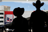 Delegates from Texas arrive at the Tampa Bay Times Forum for the Republican National Convention.