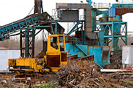 At a scrap yard on the south side of Peoria, IL, several pieces of old construction equipment have come to meet the scrappers torch.