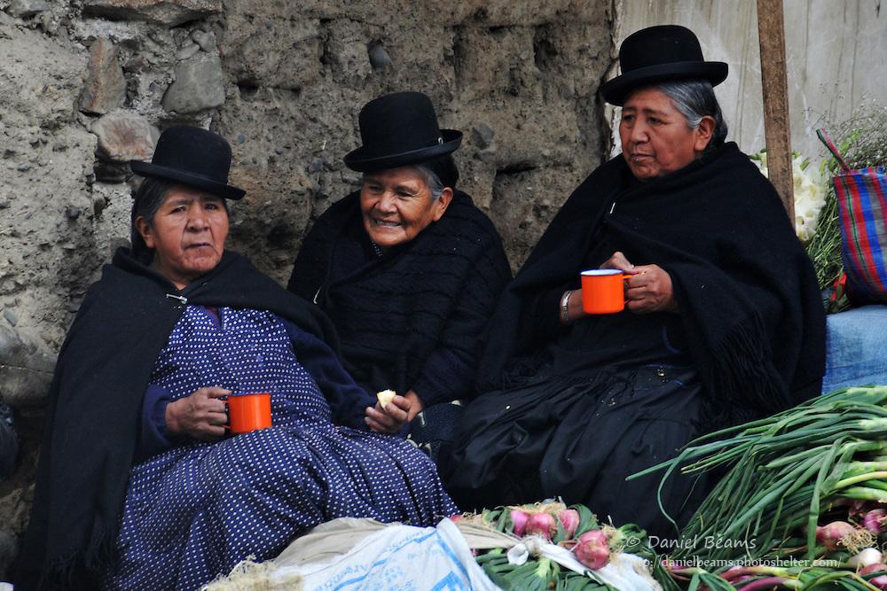 Aymara women in market, La Paz, Bolivia