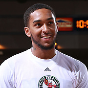 Maine Red Claws Guard DAVON USHER (14) seen prior to the start of the singing of the National Anthem prior a NBA D-league regular season basketball game between the Delaware 87ers and the Maine Red Claws Friday, Feb. 19, 2016 at The Bob Carpenter Sports Convocation Center in Newark, DEL.