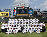 CHICAGO - AUGUST 25:  Members of the Chicago White Sox pose for their official team photo on August 25, 2010 at U.S. Cellular Field in Chicago, Illinois.  FIRST ROW:  Batboys  SECOND ROW:  Assistant Trainer Brian Ball, Head Trainer Herm Schneider, Bullpen Catcher Mark Salas, Bench Coach Joey Cora, First Base Coach Harold Baines, Hitting Coach Greg Walker, General Manager Ken Williams, Manager Ozzie Guillen, Pitching Coach Don Cooper, Third Base Coach Jeff Cox, Bullpen Coach Juan Nieves, Pre-Game Instructor Omer Munoz, Director of Conditioning Allen Thomas, Director of Team Travel Ed Cassin  THIRD ROW:  Visiting Clubhouse Manager Gabe Morell, Clubhouse Assistant Tom Bafia, White Sox Clubhouse Manager Rob Warren, White Sox Clubhouse Manager Vince Fresso, Ramon Castro, Brent Lillibridge, Juan Pierre, Omar Vizquel, Gordon Beckham, Sergio Santos, Lucas Harrell, Pre-Game Instructor Kevin Hickey, Computer Scouting Analyst Mike Gellinger, Outfield Instructor Daryl Boston, Umpires Clubhouse Manager Joe McNamara Jr.  FOURTH ROW:  Edwin Jackson, Scott Linebrink, John Danks, Carlos Quentin, Paul Konerko,  Mark Buehrle, Erick Threets, Mark Kotsay, Mark Teahen, Alexei Ramirez FIFTH ROW:  Alex Rios, Freddy Garcia, Bobby Jenks, A.J. Pierzynski, Matt Thornton, Chris Sale, Gavin Floyd, J.J. Putz, Tony Pena, Andruw Jones.  NOT PICTURED:  Jake Peavy (Disabled List), Manny Ramirez.  (Photo by Ron Vesely)