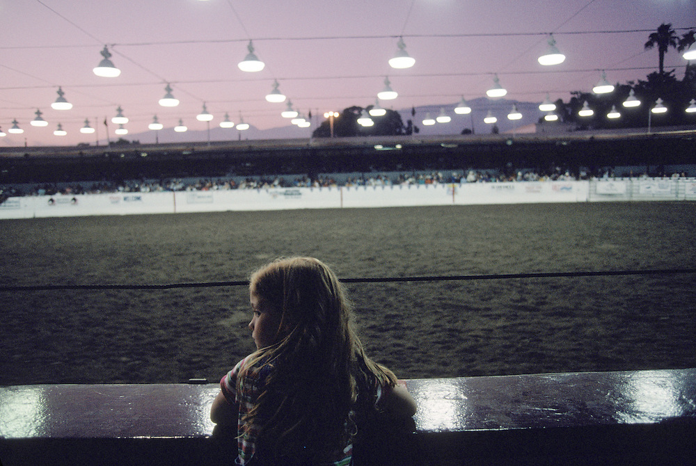Small town rodeos, such as this one at Santa Barbara Festiva in  Santa Barbara, California, draw small crowds. ..