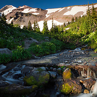 OR01687-00...OREGON - Small stream in the Elk Cove area of the Mount Hood Wilderness area.