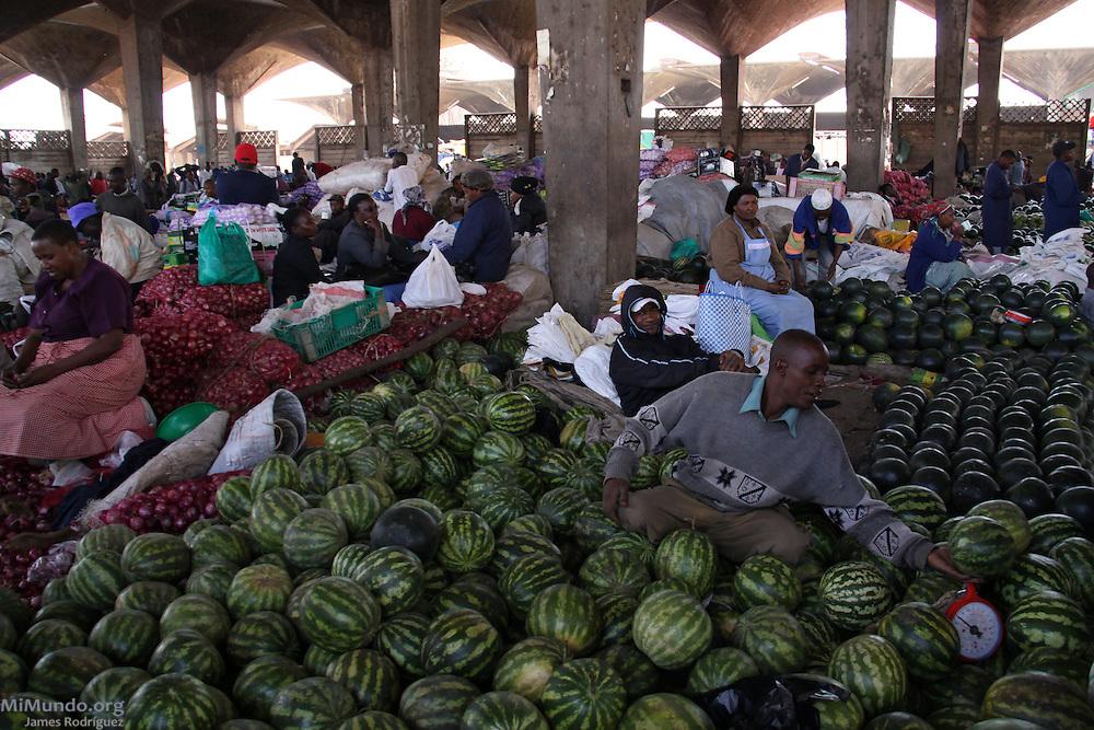 Marikiti, located in the downtown area, is Nairobi's largest produce wholesale market. The Kiswahili word Marikiti derives from the English word Market.