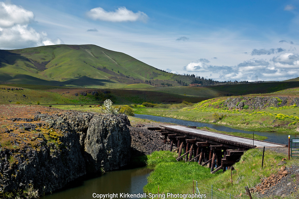 WA10317-00...WASHINGTON - Swale Creek at the Harms Road Trail Access for the Klickitat Trail.