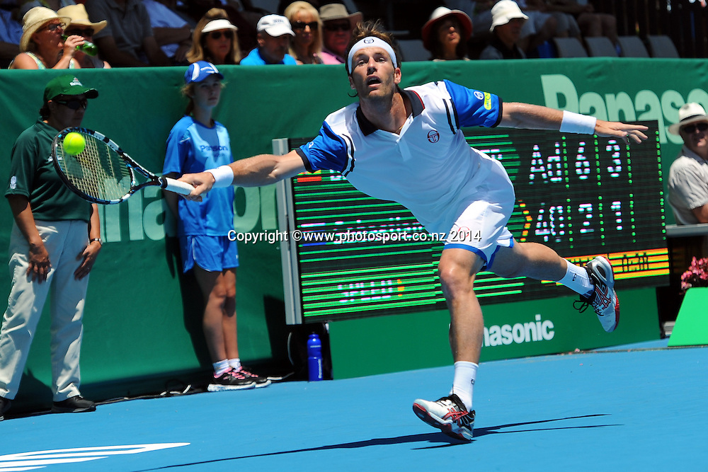 Daniel Gimeno-Traver from Spain during the Heineken Open Day1. Auckland, New Zealand. Monday 6 January 2014. Photo: Chris Symes/www.photosport.co.nz