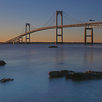 Rhode Island long exposure photography pictures of the Newport Bridge are available for photo image licensing and as museum quality photography prints, canvas prints, acrylic prints, wood prints or metal prints. Wall art prints may be framed and matted to the individual liking and room decor needs:<br /> <br /> http://juergen-roth.pixels.com/featured/newport-bridge-juergen-roth.html<br /> <br /> Coastal Rhode Island seascape sunrise photography showing the Claiborne Pell Bridge that spans Narragansett Bay connecting the City of Newport on Aquidneck Island and the Town of Jamestown on Conanicut Island. Rhode Island has become an inspiration and is a heaven for macro, seascape, and landscape photography that makes for great wall art. Especially sunrise, sunset and the light of the golden hours paint the sky in beautiful colors and bring out the beauty of the Ocean State.<br /> <br /> Good light and happy photo making! <br /> <br /> My best, <br /> <br /> Juergen <br /> Image Licensing: http://www.RothGalleries.com <br /> Fine Art Prints: http://fineartamerica.com/profiles/juergen-roth.html <br /> Photo Blog: http://whereintheworldisjuergen.blogspot.com <br /> Twitter: https://twitter.com/naturefineart <br /> Facebook: https://www.facebook.com/naturefineart <br /> Instagram: https://www.instagram.com/rothgalleries