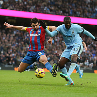 Football-Manchester City v Crystal Palace-Barclays Premiership-Etihad Stadium-20/12/2014-Pictures by Paul Currie-KEEP-Manchester City's Yaya Toure scores the 3rd goal against Crystal Palace at the Etihad Stadium, Manchester