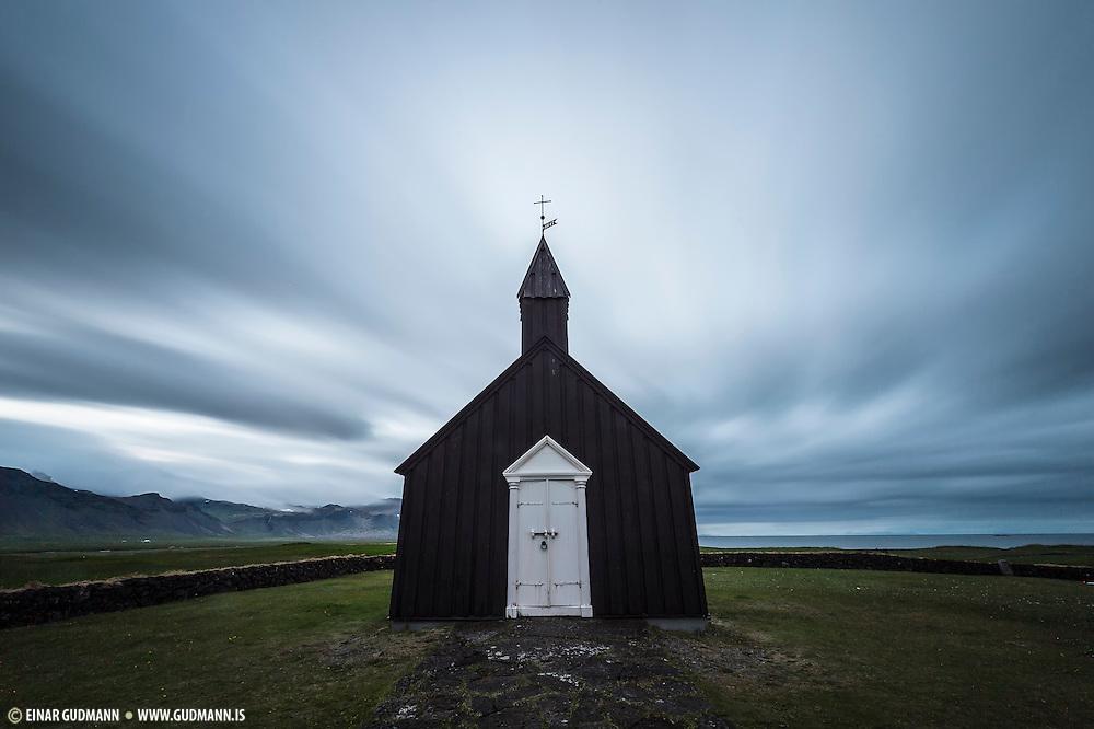 Búðakirkja church is in Budir in Snæfellsnes.