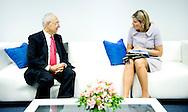 6-3-2014 LIMA PERU - Dutch Queen MAxima of the Netherlands visit Ontvangst door Dr. Daniel Schydlowsky, directeur SBS.<br /> COPYRIGHT ROBIN UTRECHT