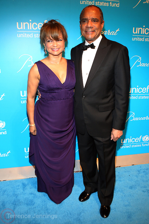 30 November 2010- New York, NY- l to r: Kathy and Ken Chenault at The Seventh Annual UNICEF Snowflake Ball Presented by Baccarat on November 30, 2010 and held at Cipriani 42nd Street in New York City. Photo Credit: Terrence Jennings