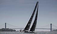IMOCA Ocean Masters. New York - Barcelona Race start. Pictures Hugo Boss skippered by Pepe Ribes (ESP) &amp; Ryan Breymaier (USA)<br />  Credit: Mark Lloyd/Lloyd Images