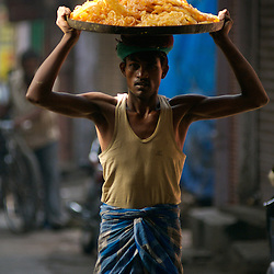 fresh jalebis as they emerge from jaipur's back streets to the market