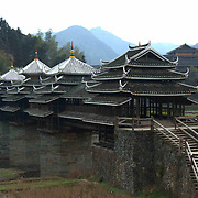 Over 100 years old, it was built in 1912, Chengyang Qiao, is a 78 meter long structure built by the Dong people without nails. Located 20 kilometers north of the town of Chengyang, this bridge is considered to be one of the best examples of such architecture within Sanjiang county.