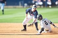 Ole Miss' Austin Anderson takes the throw and tags out Vanderbilt's Tony Kemp (6) at second at Oxford-University Stadium Stadium in Oxford, Miss. on Saturday, April 6, 2013. Vanderbilt won 2-1.
