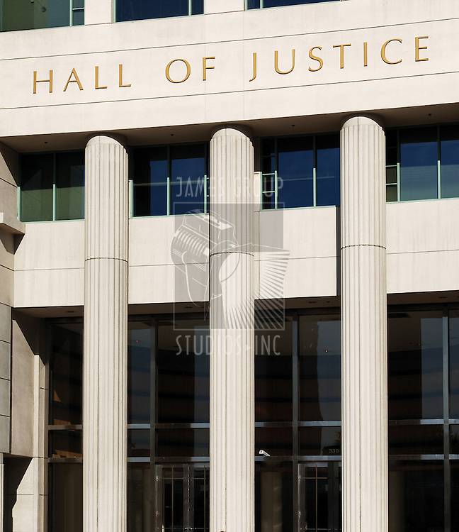Hall of Justice courthouse in San Diego