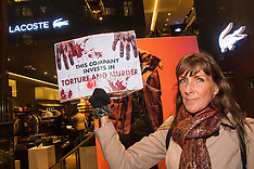 2014-11-28 Animal rights campaigners protest outside Lacoste store over Angora rabbit fur cruelty