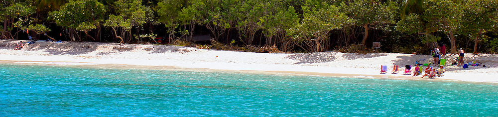 Trunk Bay on St. John in the US Virgin Islands, said to be the most beautiful beach in the world.