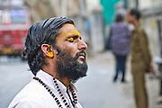 Blind man in Rajasthan, India