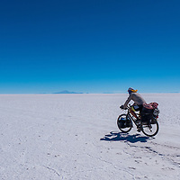 Salar de Uyuni is the world's largest salt flat at 10,582 square kilometers (4,086 sq mi). It is located in the Daniel Campos Province in Potos&iacute; in southwest Bolivia, near the crest of the Andes and is at an altitude of 3,656 meters (11,995 ft) above sea level.<br />