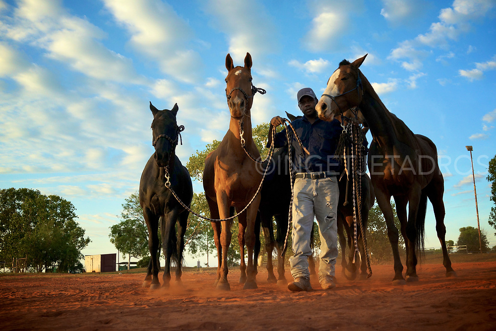 Indigenous stockman Carl Manfond from Tenant Creek ( 28 yrs) is part of the polo team. The 2015 polo will feature two 3-man teams vigorously competing to win the Paspaley International Beach Polo Cup III, as well as the Airnorth Kimberley Challenge match for young indigenous and non-indigenous players. Broome, WA