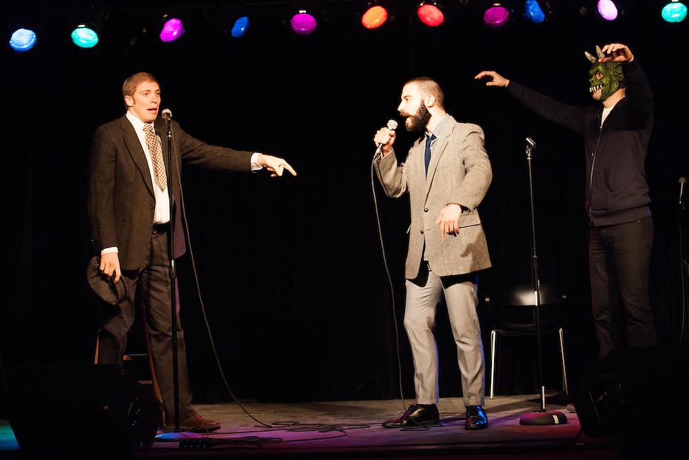 Joe Pera & Dan Licata as Abbott and Costello - Schtick or Treat 2013 - Littlefield, Brooklyn - October 27, 2013