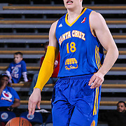 Santa Cruz Warriors Guard Milos Milisavljevic (18) seen dribbling the ball up court in the second half of a NBA D-league regular season basketball game between the Delaware 87ers and the Santa Cruz Warriors (Golden State Warriors) Tuesday, Jan. 13, 2015 at The Bob Carpenter Sports Convocation Center in Newark, DEL