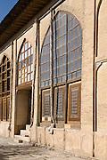Windows of the Internal courtyard of The Arg (Citadel) of Karim Khan, Shiraz, Iran
