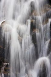 A detail of Myrtle Falls on Edith Creek, Paradise Meadows, Mount Rainier NP, WA, USA (image captured with a long shutter speed to give a silken effect to the water motion)