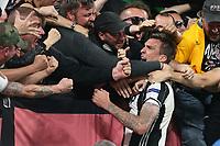 can - 09.05.2017 - Torino - Champions League Semifinale  -  Juventus-Monaco nella  foto: Mario Mandzukic esulta con i tifosi della Juventus