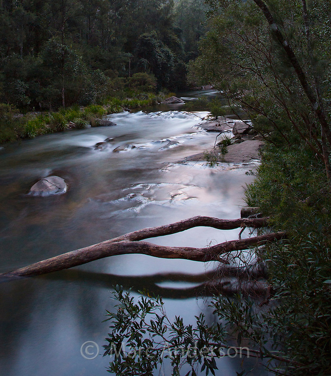 Moonlight on the Wilson River, near Port Macquarie, NSW, Australia