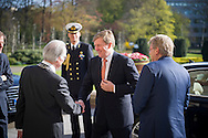 DEN HAAG - Koning Willem-Alexander arriveert bij het Internationaal Gerechtshof voor de viering van het zeventigjarig bestaan van het rechtsorgaan. THE HAGUE, April 20, 2016 - king willem alexander during the 70 years celebration H.E.&nbsp;Mr.&nbsp;Ban&nbsp;Ki‑moon, United Nations Secretary‑General, inaugurates the new Museum and Learning Centre of the International Court of Justice (ICJ), in the presence of the President of the Court, H.E.&nbsp;Mr.&nbsp;Ronny Abraham (France), the Minister of Foreign Affairs of the Netherlands, H.E.&nbsp;Mr.&nbsp;Albert&nbsp;Gerard Koenders, and the Registrar, H.E.&nbsp;Mr.&nbsp;Philippe Couvreur (Belgium).  The inauguration took place on 20 April 2016, after the solemn sitting held to mark the 70th anniversary of the ICJ.  From left to right: <br /> H.E.&nbsp;Mr.&nbsp;Albert&nbsp;Gerard Koenders, Minister of Foreign Affairs of the Netherlands,<br /> H.E.&nbsp;Mr.&nbsp;Ronny Abraham (France), President of the Court,<br /> H.E.&nbsp;Mr.&nbsp;Ban&nbsp;Ki‑moon, United Nations Secretary‑General,copyright robin utrecht UN Photo/ICJ-CIJ/POOL fank van beek