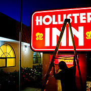 Residents of rural Hollister, California say Abercrombie &amp; Fitch has hijacked the town's name and threatened to sue merchants who sell clothes displaying it. Set in farmlands east of Monterey Bay, Hollister is nothing like the mythical Southern California beach town sold to teens on tees and sweatshirts displayed in Abercrombie's 500 clothing stores.<br />