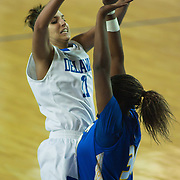 01/26/12 Newark DE: Delaware Junior Forward #11 Elena Delle Donne attempts a  pass while driving to the hoop during a NCAA Women's College basketball game against Hofstra Thursday, Jan. 26, 2012 at the Bob carpenter center in Newark Delaware...All-American Elena Delle Donne erupted for a season-high and building record of 41 points.