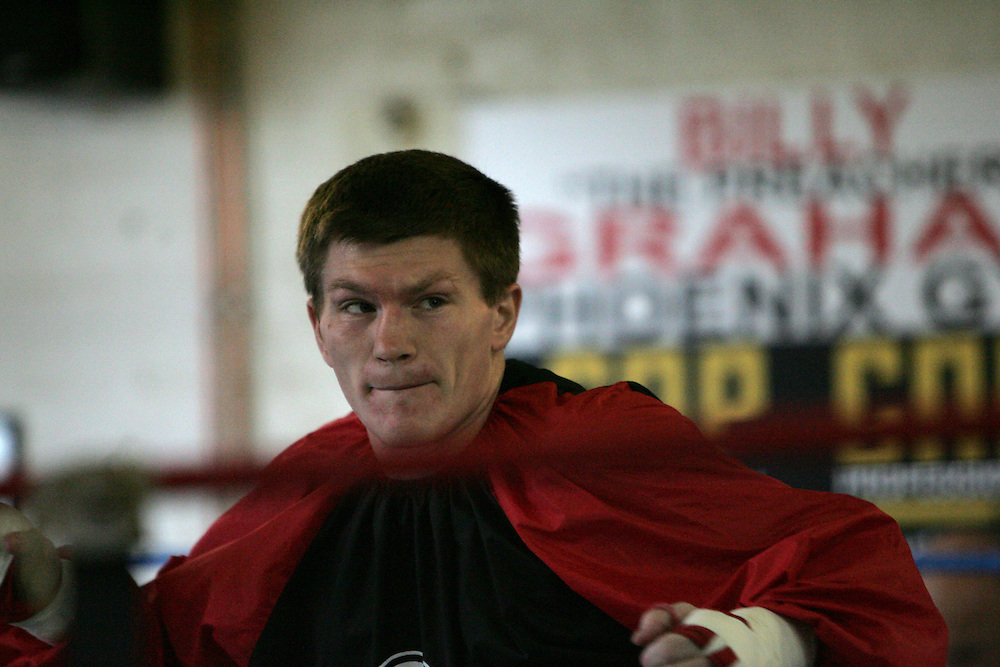 Ricky Hatton prepares for his upcoming WBC Welterweight World title fight in Las Vegas on December 8th 2007 against Floyd Mayweather. 29th October 2007, Denton, Manchester.....** Exclusive images - Minimum usage fees apply