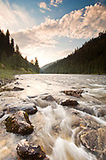 Idaho. MIddle Fork Clearwater River at sunrise near Syringa.