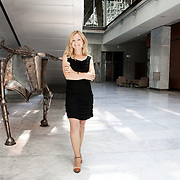 "Warsaw, Poland, June 17th, 2013. Katarzina Karpa-Swiderek, journalist and economy specialist at the Warsaw Stock Exchange. She leads the program ""A Day on the Markets"" an economic analysis broadcasted on TVN CNBC, a major commercial television station in Poland."