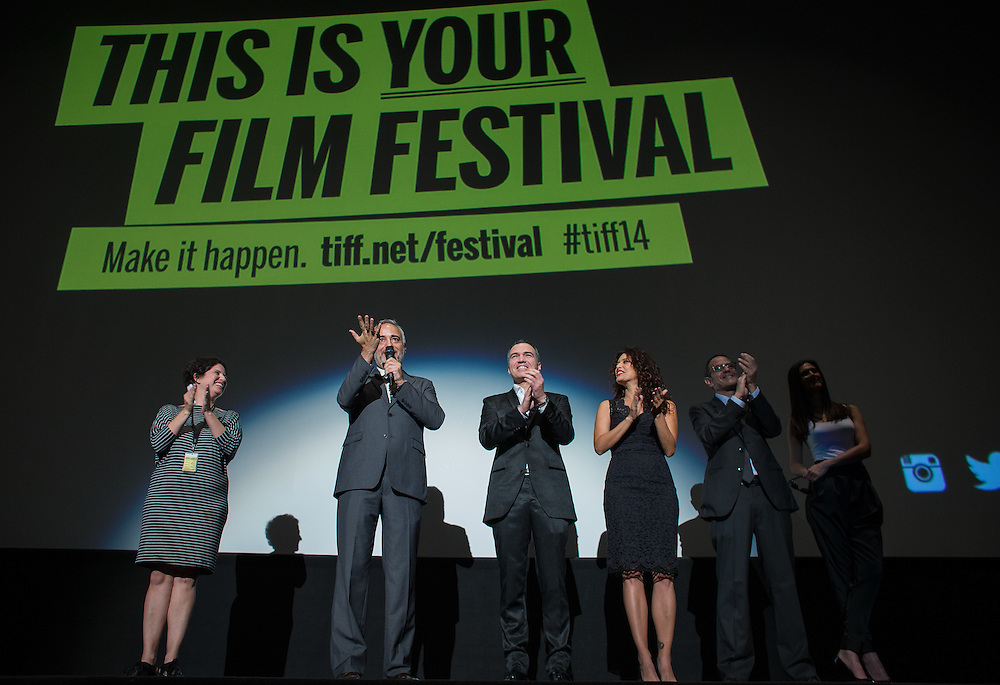 The Vanished Elephant's director Javier Fuentes-Le&oacute;n introduces his film at its premier at the Toronto International Film Festival in Toronto, Ontario, September 6, 2014.<br /> AFP PHOTO/Geoff Robins