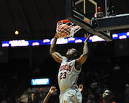 "Ole Miss' Reginald Buckner (23) dunks at C.M. ""Tad"" Smith Coliseum in Oxford, Miss. on Wednesday, December 14, 2011. (AP Photo/Oxford Eagle, Bruce Newman)"