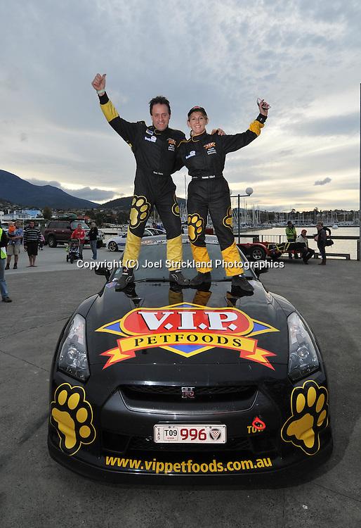 Tony Quinn & Naomi Tillett .2008 Nissan GTR.Day 5.Targa Tasmania 2009.3rd of May 2009.(C) Joel Strickland Photographics.