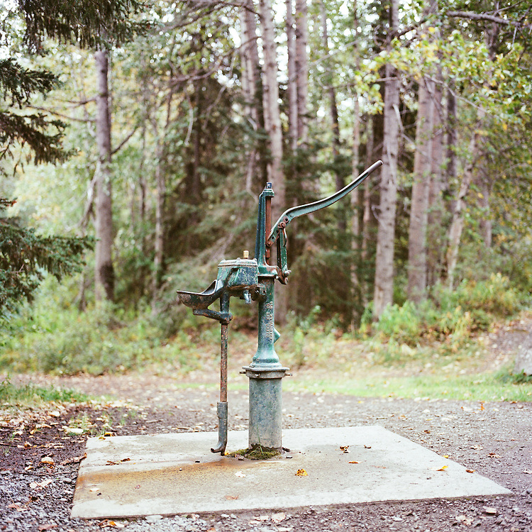 EKLUTNA LAKE, ALASKA - 2012: Water pump.