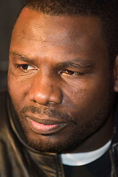 March 14, 2006 - New York, NY - WBC Heavyweight Champion Hasim Rahman  during the final press conference for his upcoming fight against James Toney.  The two will face off on Saturday, March 18th at Boardwalk Hall in Atlantic City, NJ.